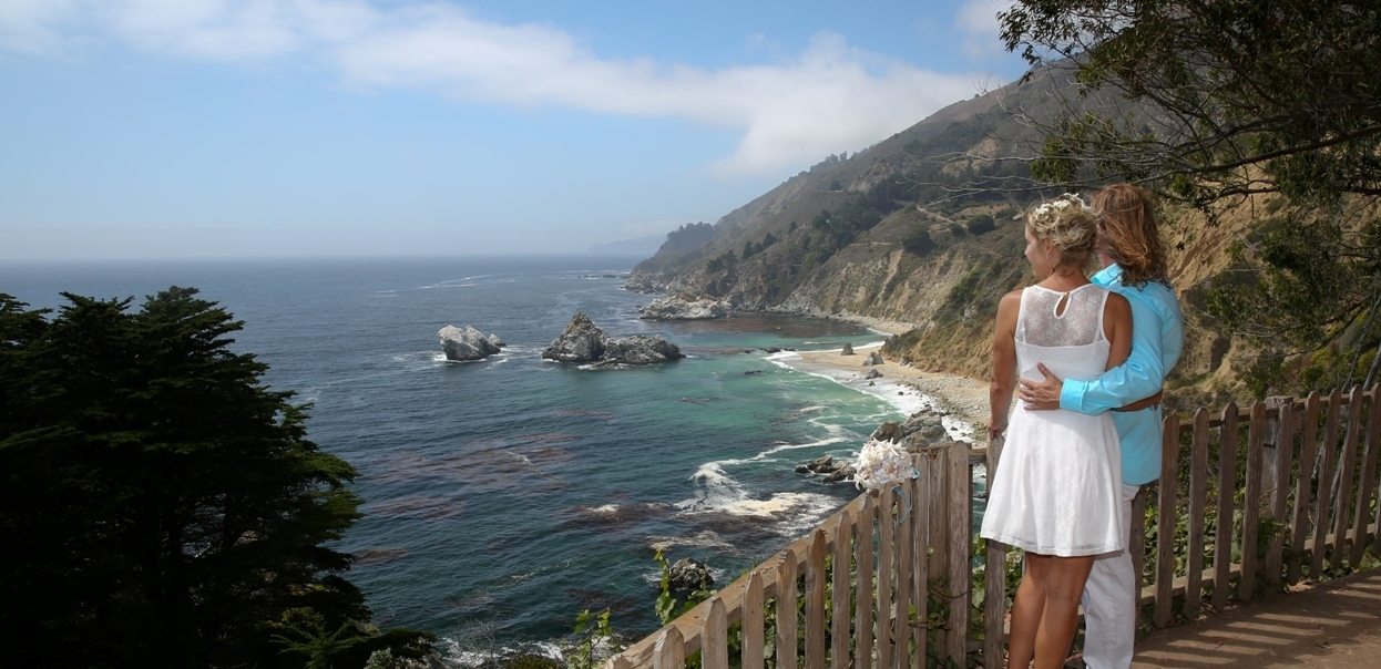 Elope in big sur big sur elopement wedding packages for Best destinations to elope