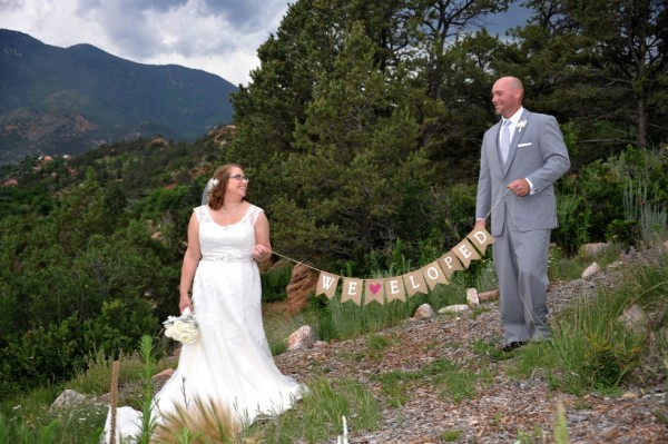 eloping couple in the springs