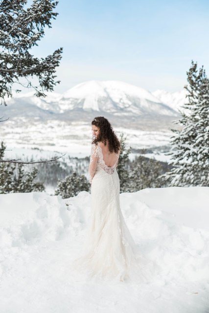 rocky mountain winter bride