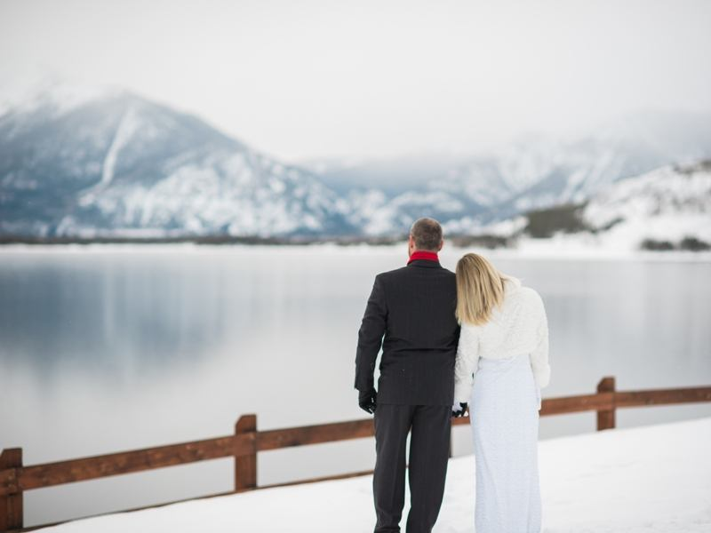 married by a lake in colorado