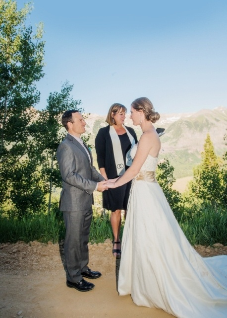ceremony on the mountain in telluride