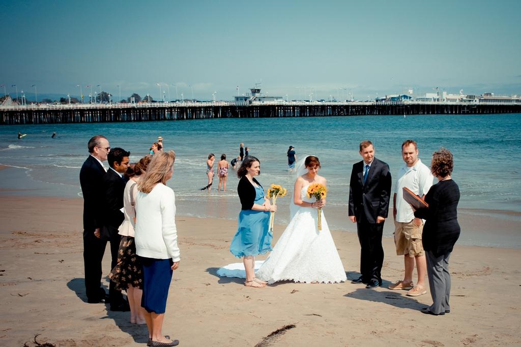 Kayleigh And Steve Married On The Beach In Santa Cruz