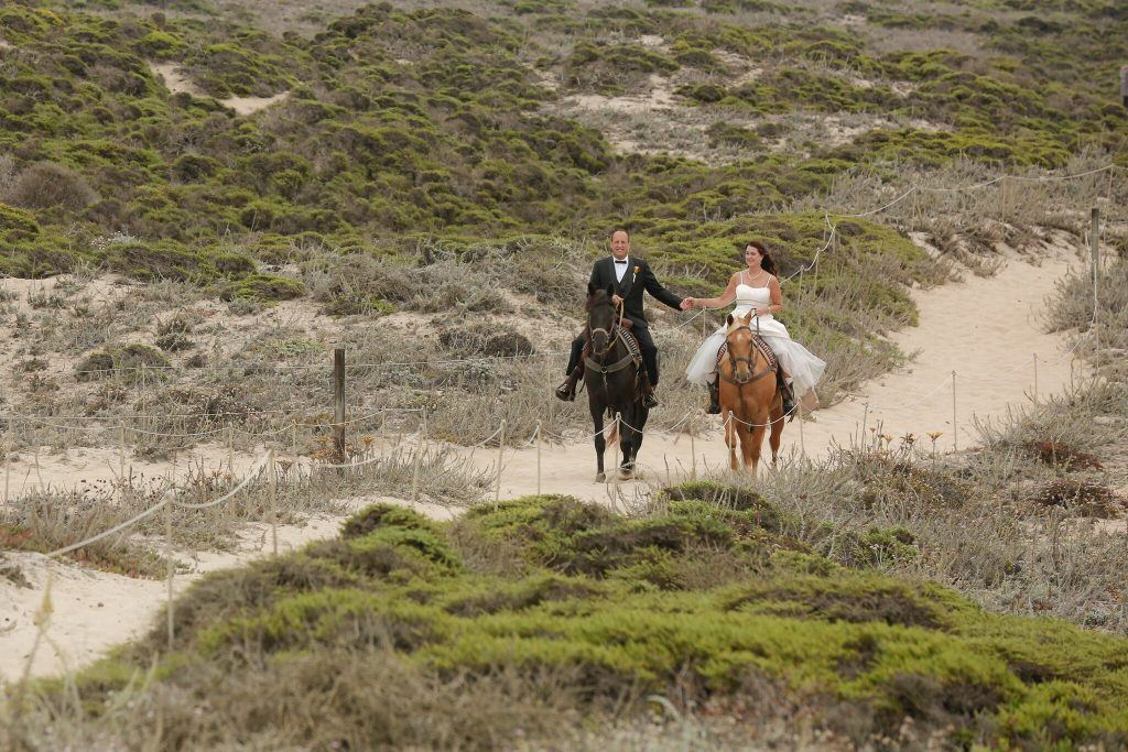 horseback beach wedding