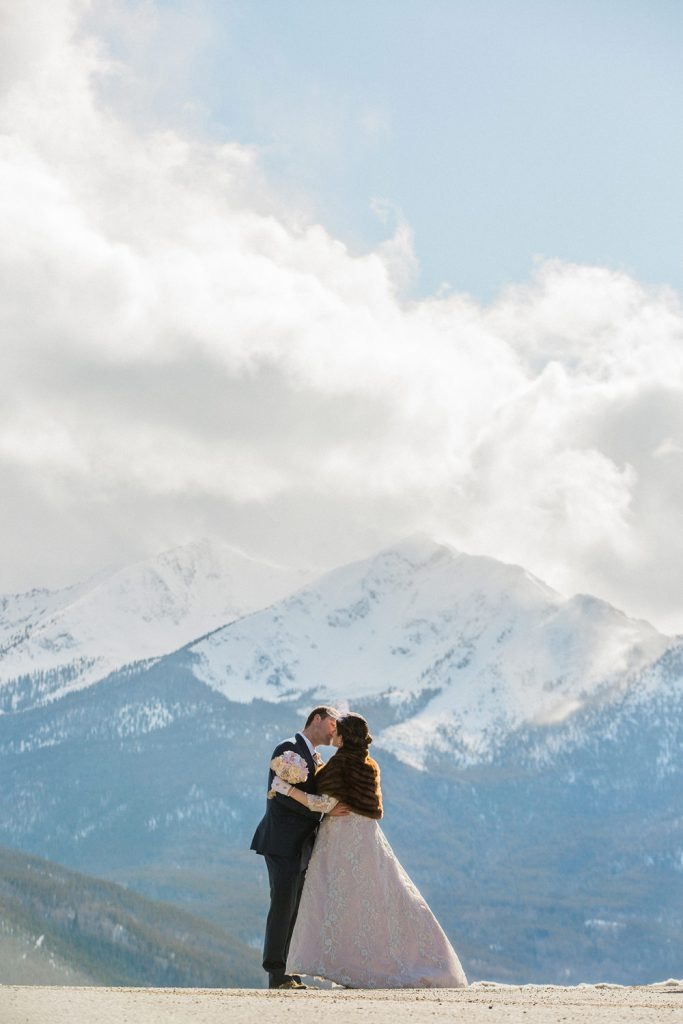 Couples come to Breckenridge and Keystone to elope because of the mountains, the lake, the sun, the quaint and bustling downtown area and of course our fabulous ski slopes.