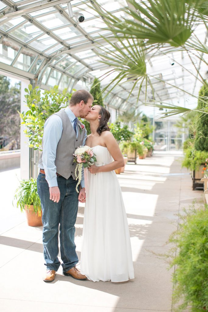 Elopement at Denver Botanical Gardens
