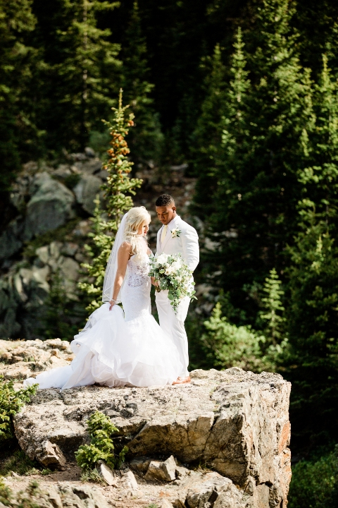 married on a cliff in the mountains of Breckenridge Colorado