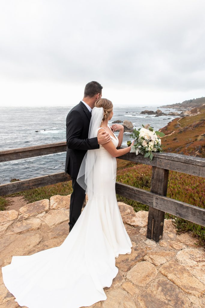married overlooking the ocean in Big Sur