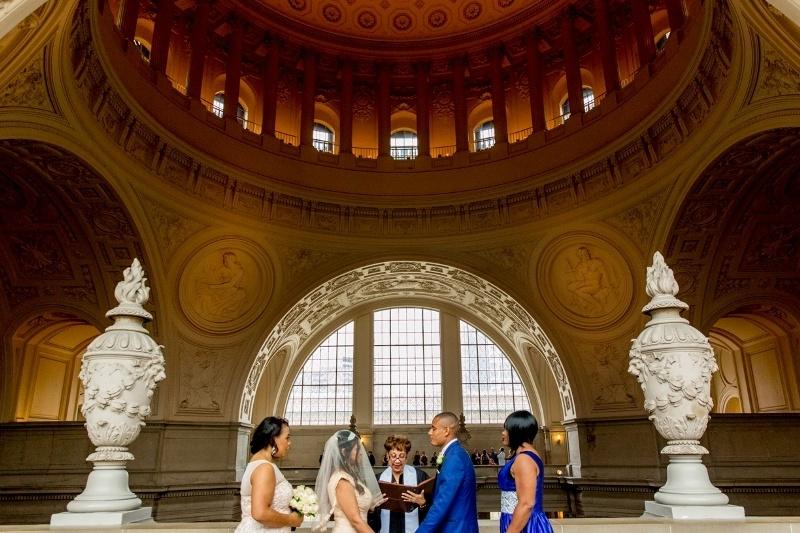 Christine And Cornelius Elope In San Francisco City Hall