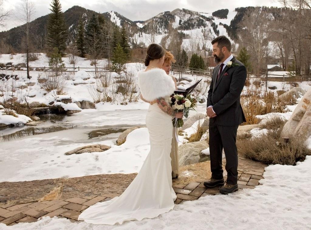 an aspen winter wedding for melanie and greg