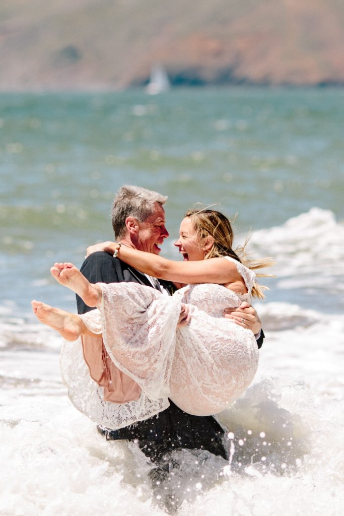married on the beach in California