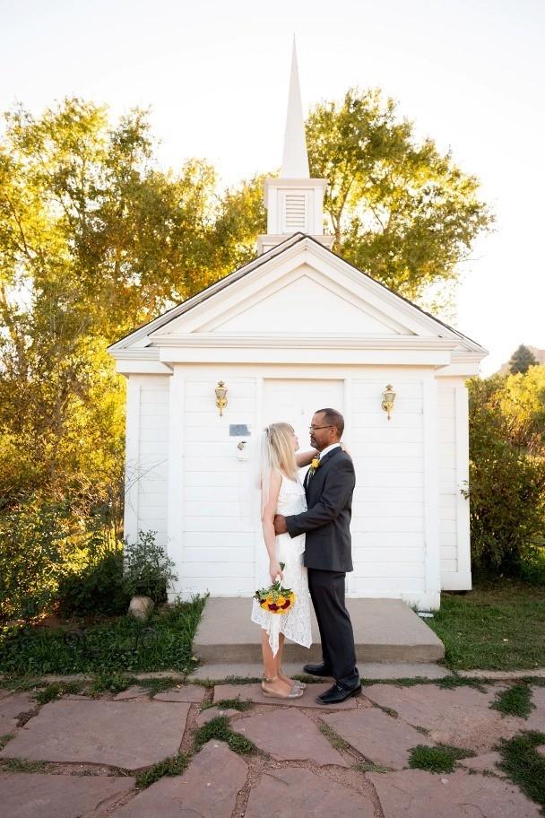 Small little white chapel in Colorado