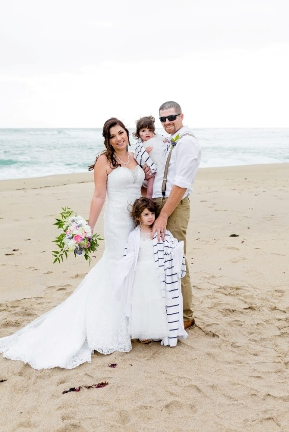 the couple and their adorable daughters