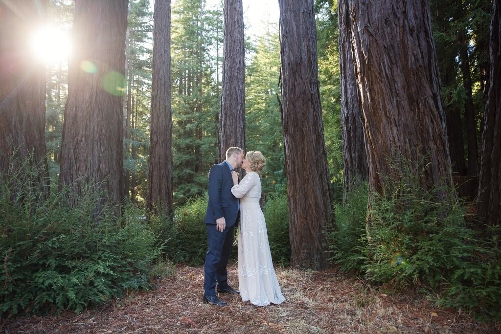 California redwood forest elopement