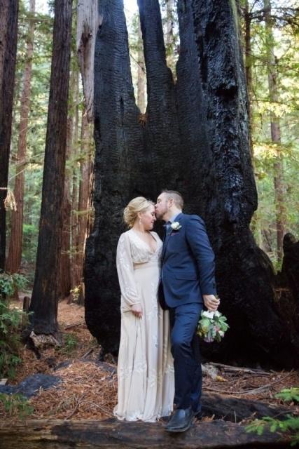 redwood tree elopement in California