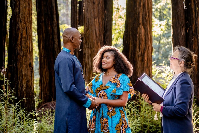 elopement ceremony in the redwoods