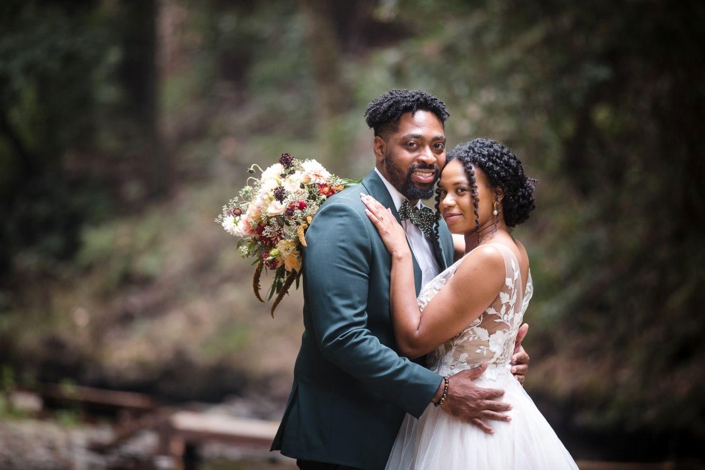 Amara and Kalan's enchanted forest wedding