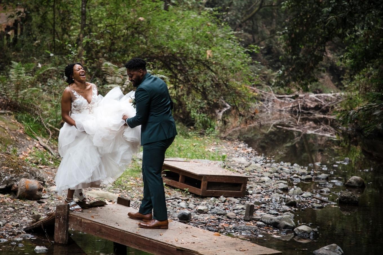redwood wedding fun