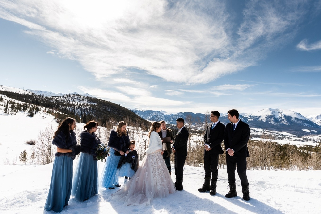 getting married in the Colorado Rocky mountains in winter