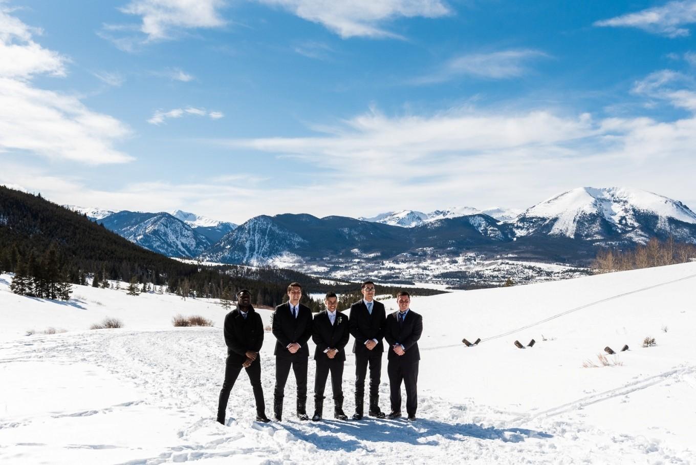 all the men - Colorado winter elopement