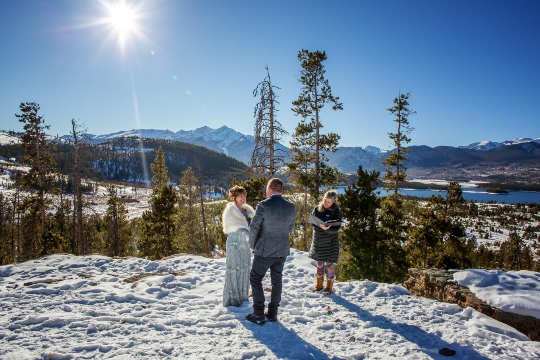 eloping in the Colorado snow