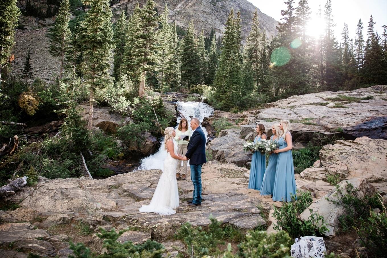 Matt and Laura elope at a Colorado waterfall