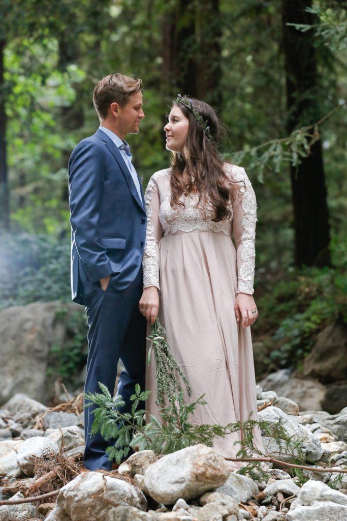 Destination wedding in the Washington rainforest
