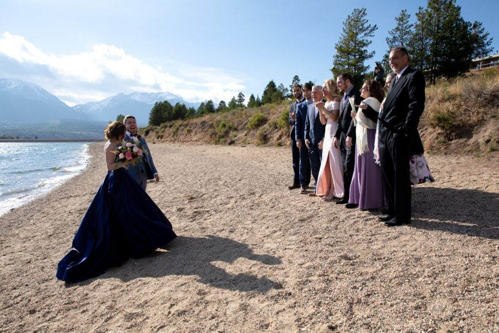 married on the beach in Colorado