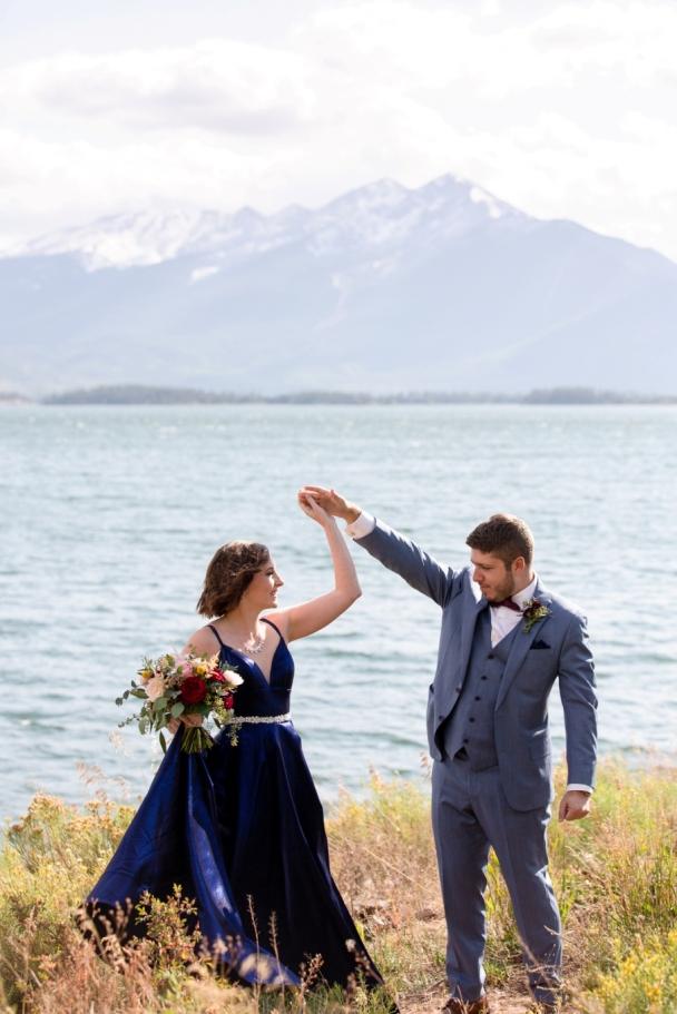 pre-elopement dance on the beach