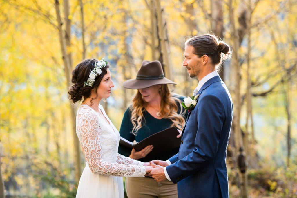 Julia and Kyles elopement ceremony