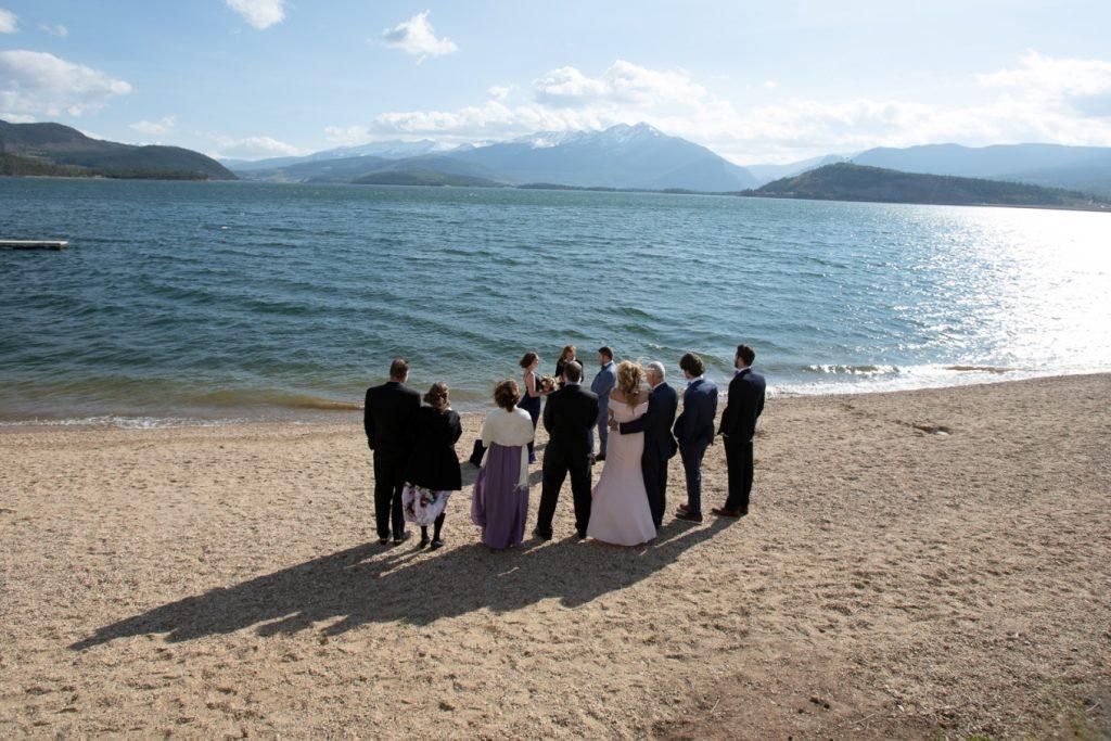 elopement on the beach - Lake Dillon
