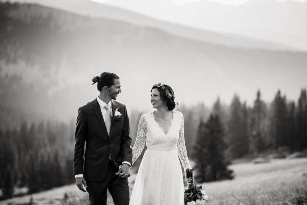 blak and white - eloping at Boreas Pass