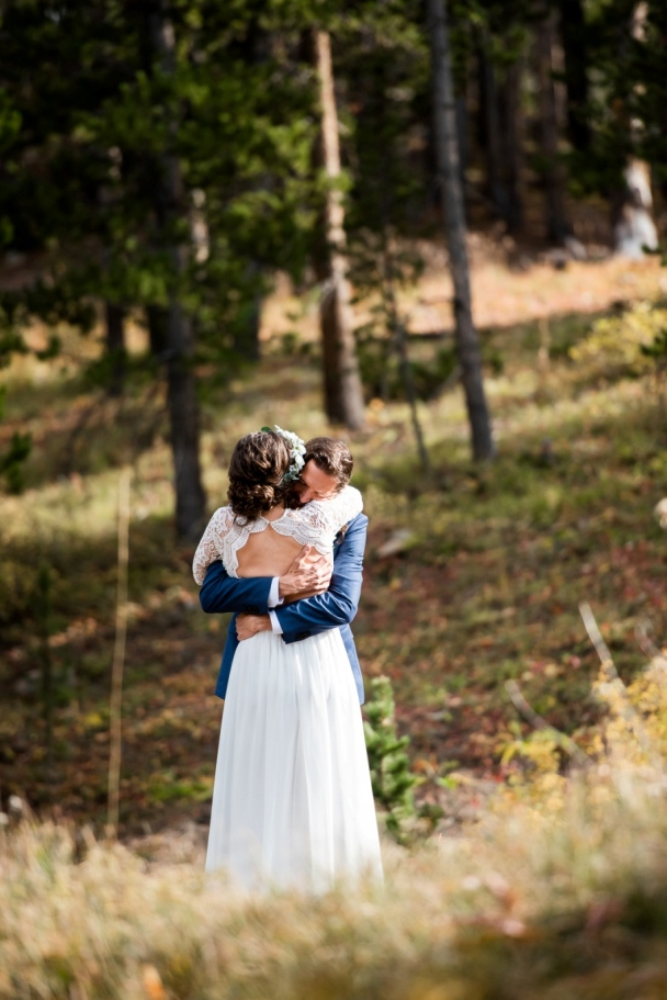 first look for their Boreas Pass elopement