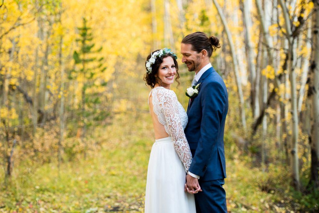 eloping amid fall aspens at Boreas Pass