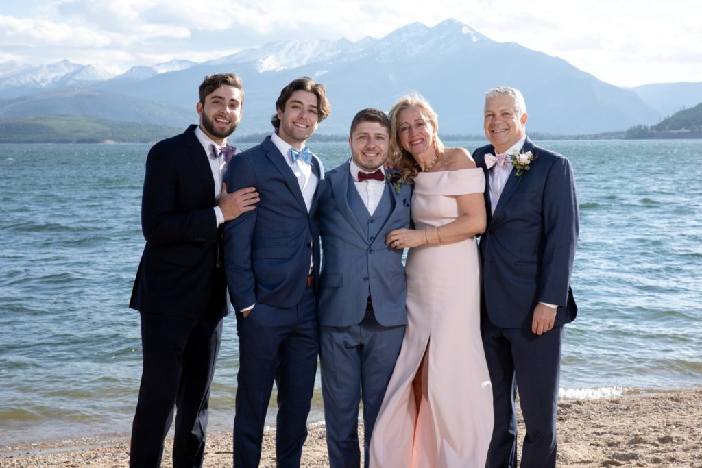 groom and his family
