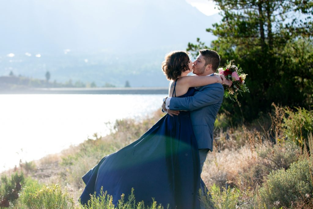 cassie and Rami's Lake Dillon elopement