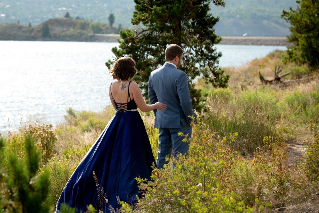 first look - Lake Dillon elopement