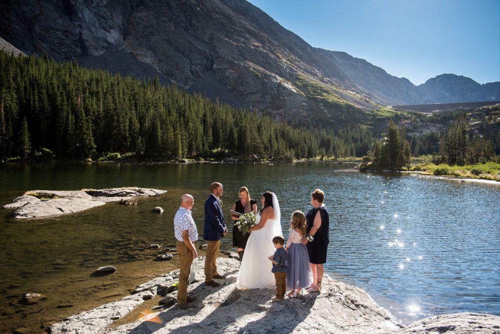 lakeside micro-wedding in Breckenridge