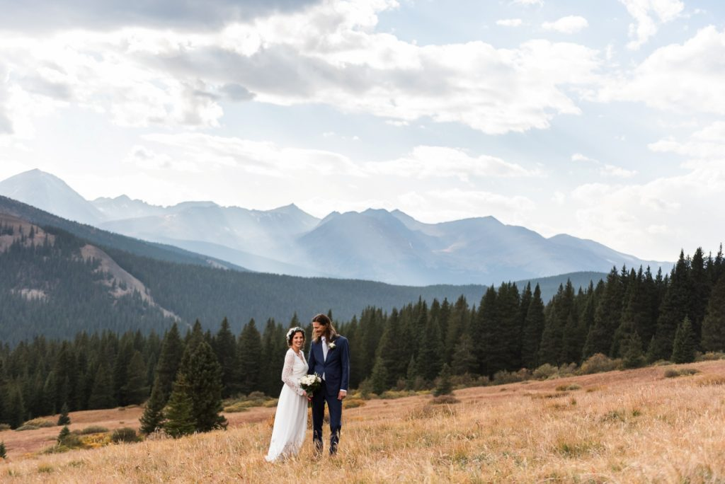 Gorgeous mountian views for their elopement
