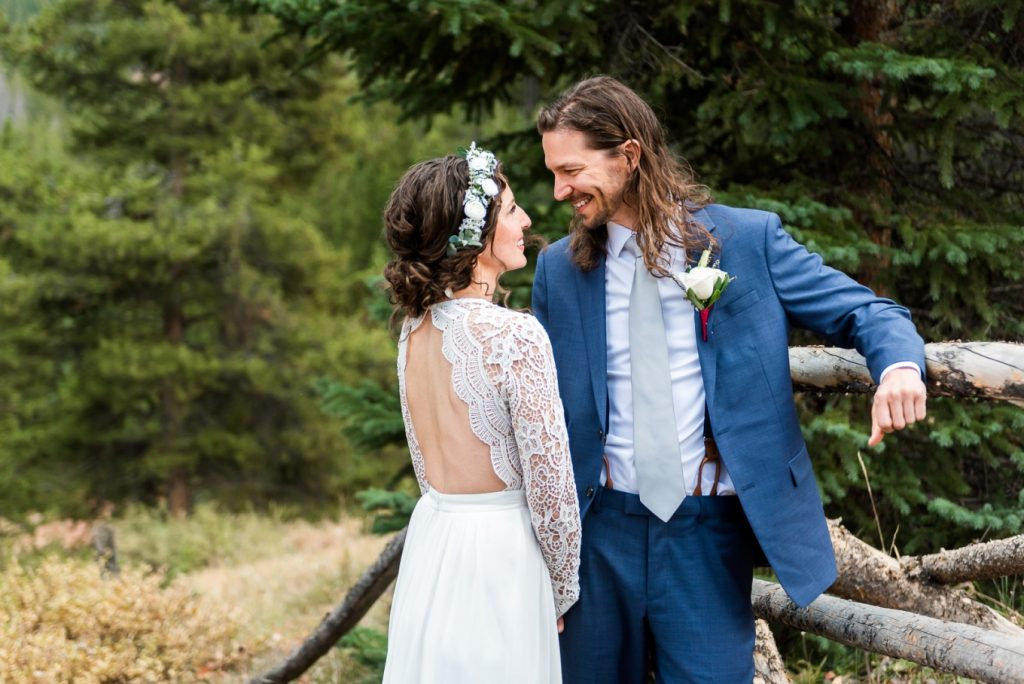 Julia and Kyle before their ceremony on Boreas Pass