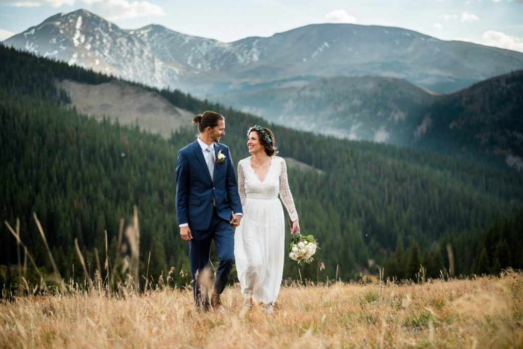 walking hand in hand on Boreas Pass