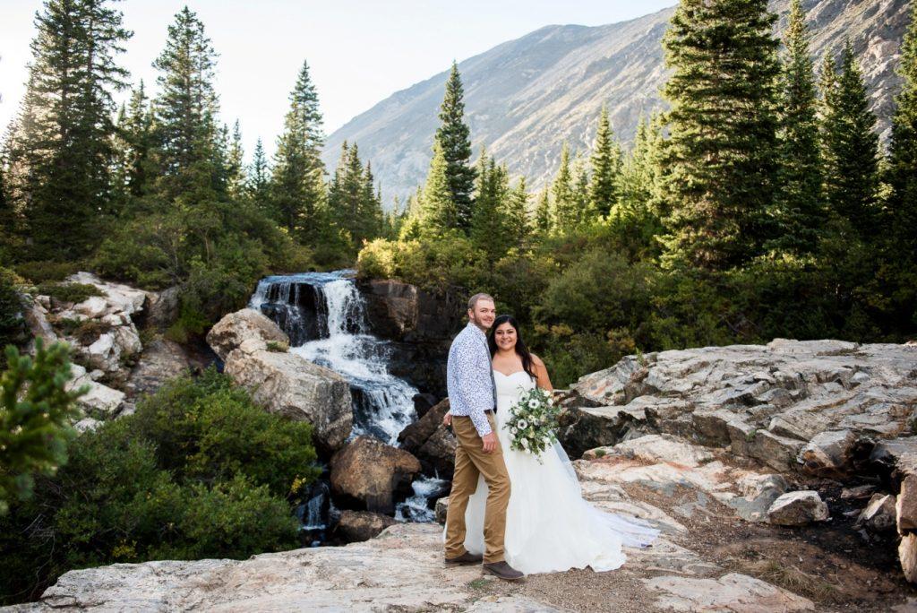 waterfall wedding Breckenridge