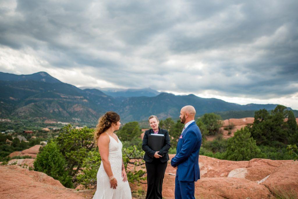 Garden of the Gods wedding ceremony
